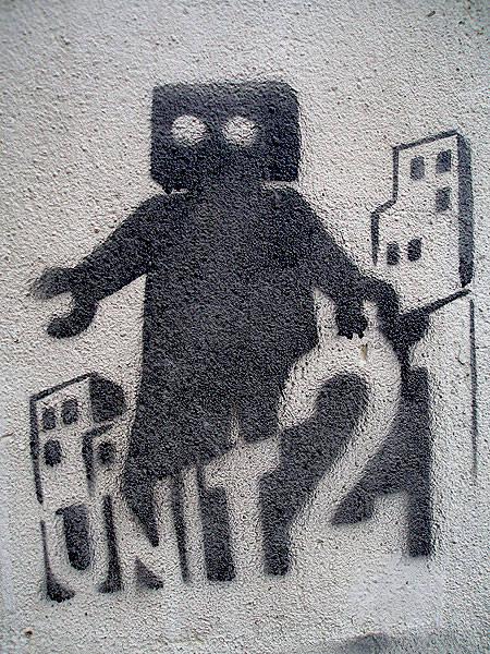 трафаретная живопись: